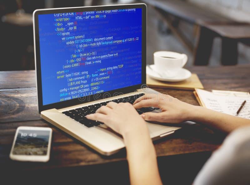 PHP que programa concepto del ciberespacio de la codificación del HTML imágenes de archivo libres de regalías
