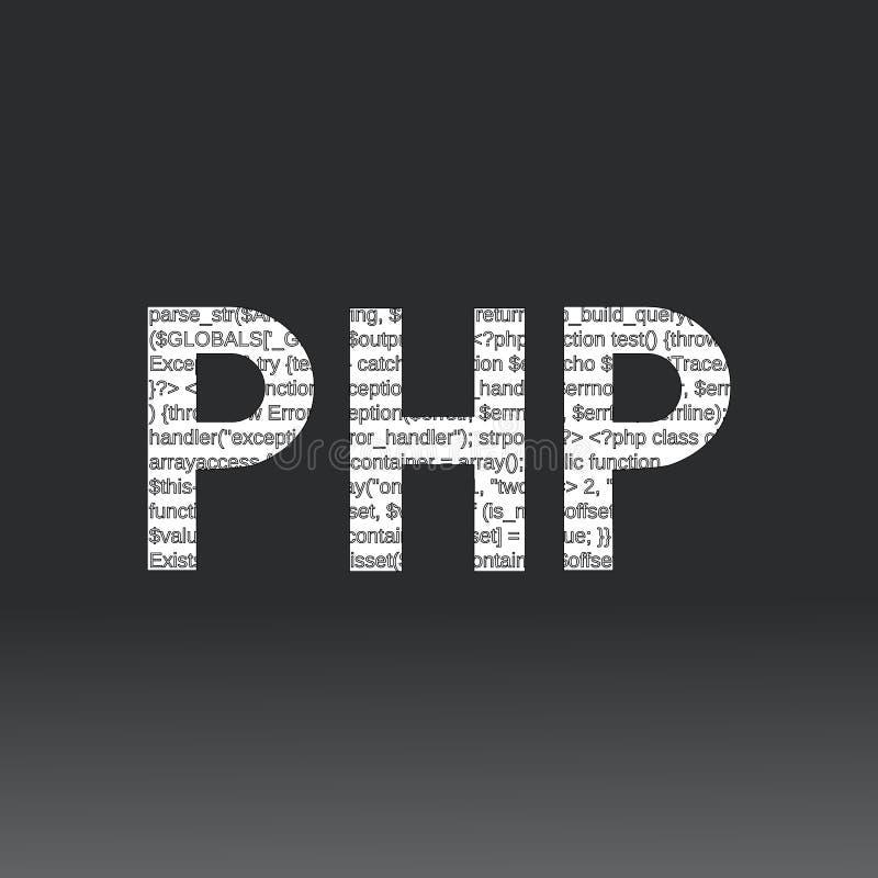 Php-språktecken stock illustrationer