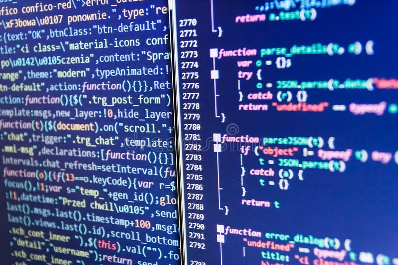 PHP-Syntax hervorgehoben WWW-Softwareentwicklung Website-Design lizenzfreie stockfotografie