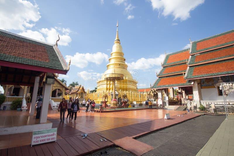Phra骇黎朋猜,主要寺庙在南奔府 库存照片