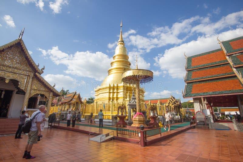 Phra骇黎朋猜,主要寺庙在南奔府 图库摄影