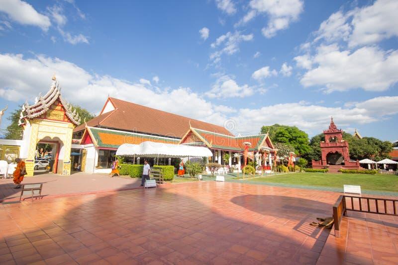 Phra骇黎朋猜,主要寺庙在南奔府 库存图片