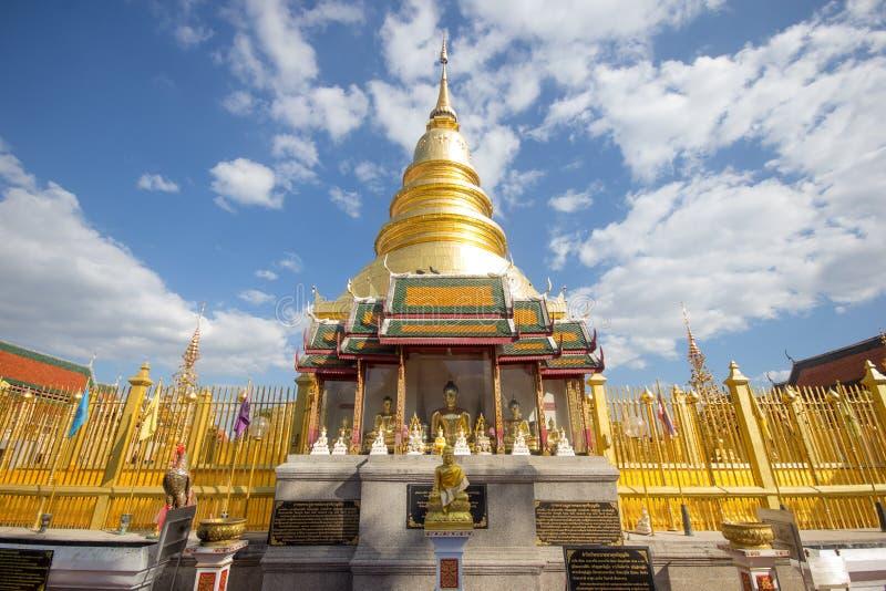 Phra骇黎朋猜,主要寺庙在南奔府 免版税库存图片