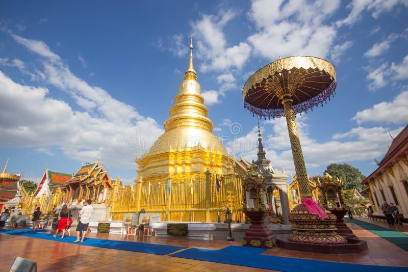 Phra骇黎朋猜,主要寺庙在南奔府 免版税库存照片