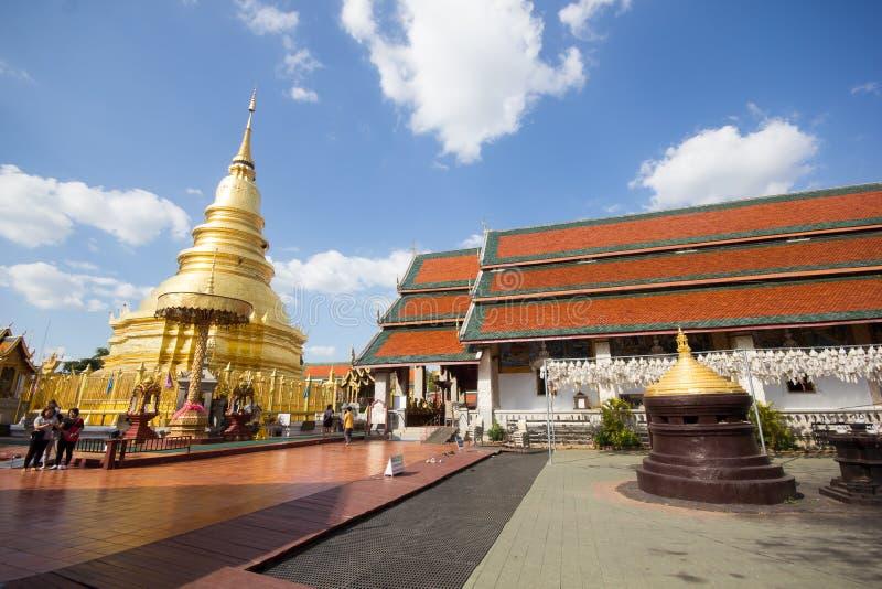 Phra骇黎朋猜,主要寺庙在南奔府 免版税图库摄影