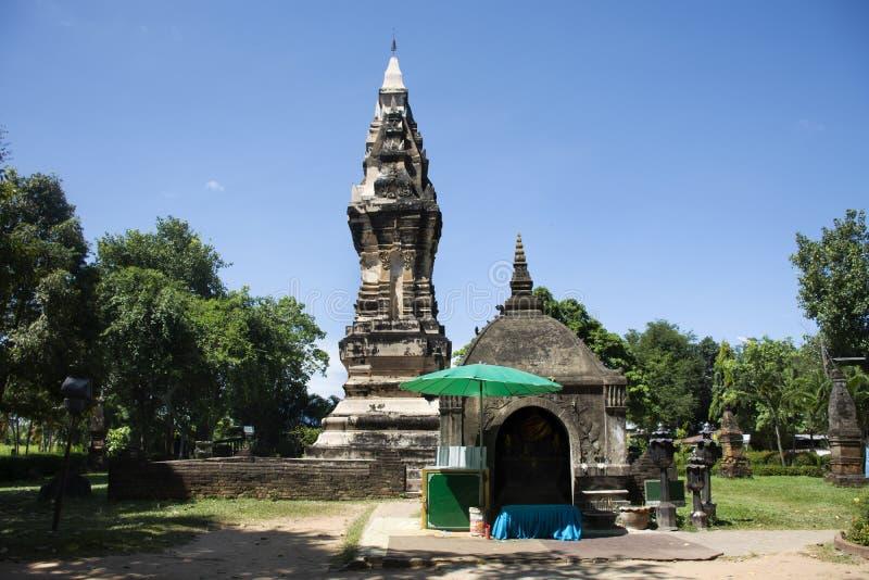 Phra Że Kong Khao Noi jest antycznym Chedi w Yasothon lub stupą, Tajlandia zdjęcie stock