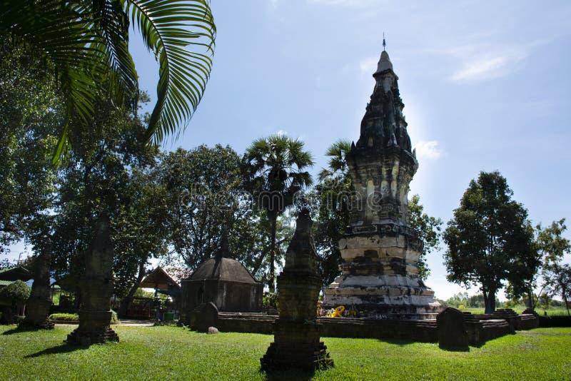 Phra Że Kong Khao Noi jest antycznym Chedi w Yasothon lub stupą, Tajlandia fotografia stock