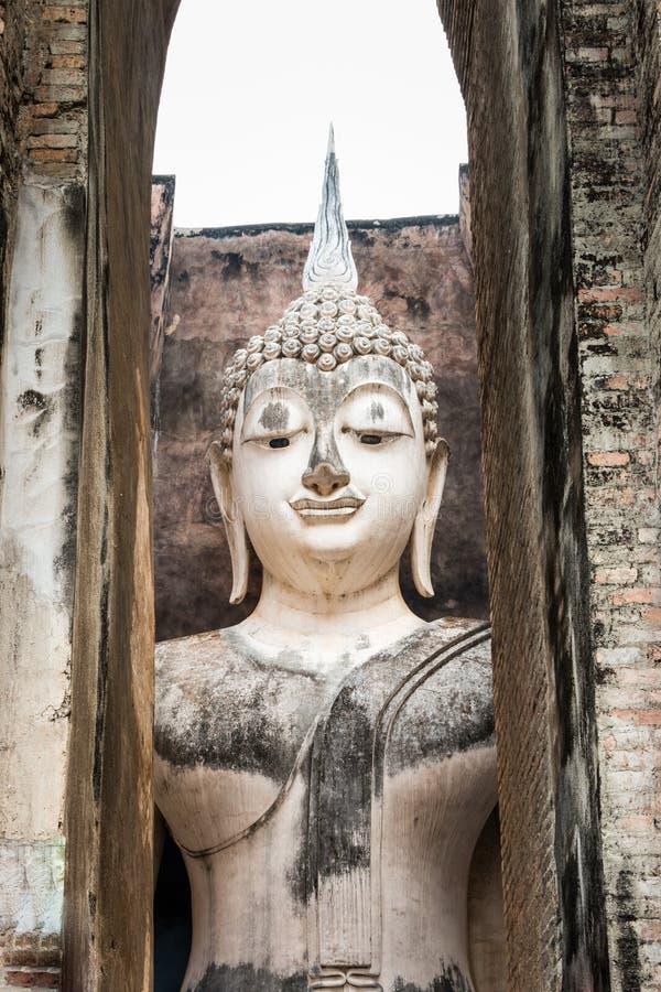 Phra Ajana an historischem Park Sukhothai stockfoto