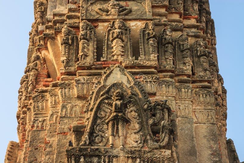 Phra antiguo Prang fotografía de archivo libre de regalías