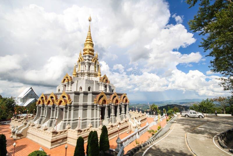 Phra Boromathat Chedi, Doi MaeSalong, Chiangrai, Thaïlande image libre de droits