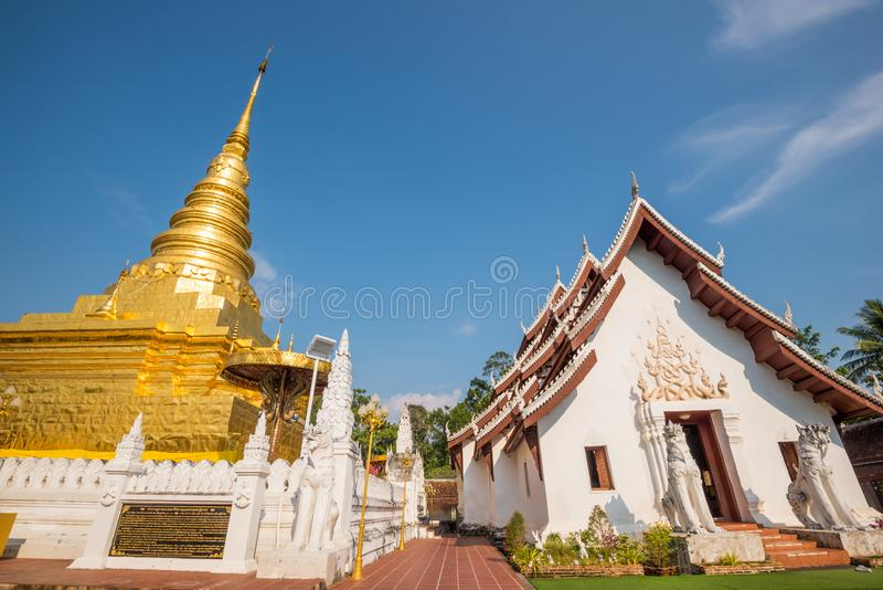 Phra That Chae Haeng, Nan province, Thailand. Phra That Chae Haeng, the famous temple of Nan province, Thailand royalty free stock images