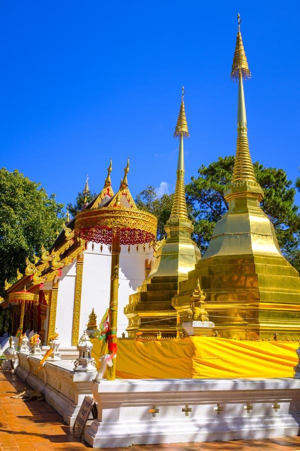 Phra det Doi Tung tempel arkivbilder