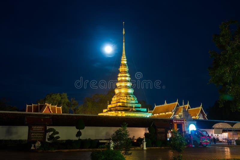 Phra dieser Chae Haeng-Tempel am Tag vor dem buddhistischen geliehen lizenzfreie stockbilder