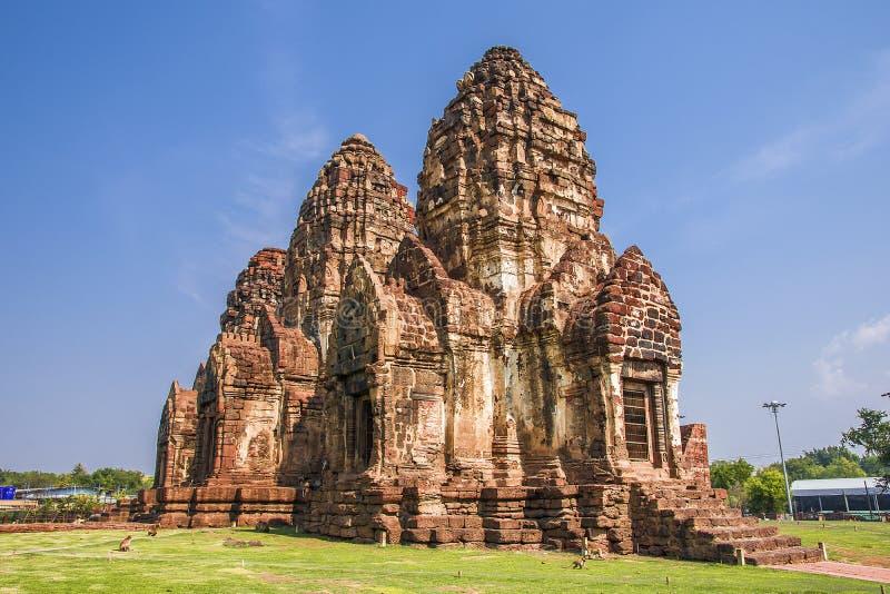 Phra esquintent Sam Yod, Lopburi, Tha?lande photo stock