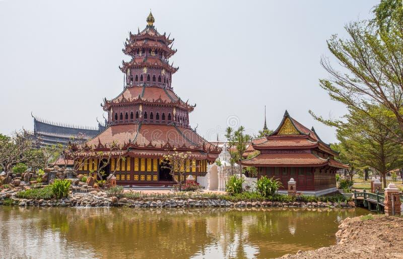 The Phra Kaew Pavillon in Ancient City Park, Muang Boran, Samut Prakan province, Thailand. Asia royalty free stock photos