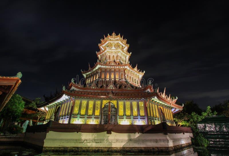 Phra Kaew pawilon w Antycznym Siam, Samutparkan, Tajlandia fotografia royalty free