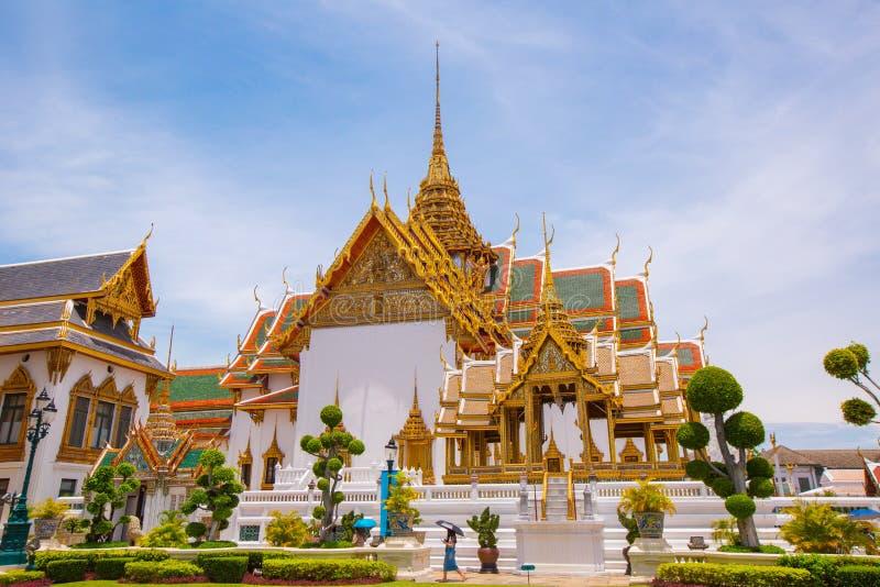 Phra Kaew tempel och Royal Palace av Thailand fotografering för bildbyråer