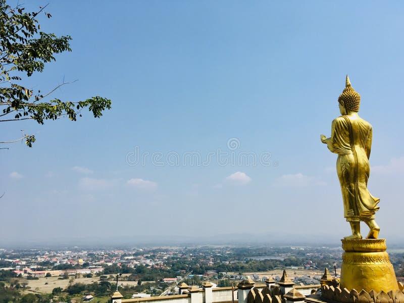 Phra That Khao Noi Tempel in der thailändischen Provinz Nan lizenzfreies stockbild