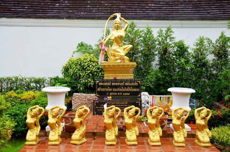 Phra Mae Thorani是从佛教神话的一个地府鬼神的女神 免版税库存图片