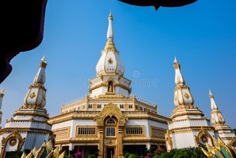 Phra Maha Chedi Chai Mongkol, a highly-revered pagoda containing relics of Buddha, Landmark at Roi Et Province, northeastern royalty free stock image