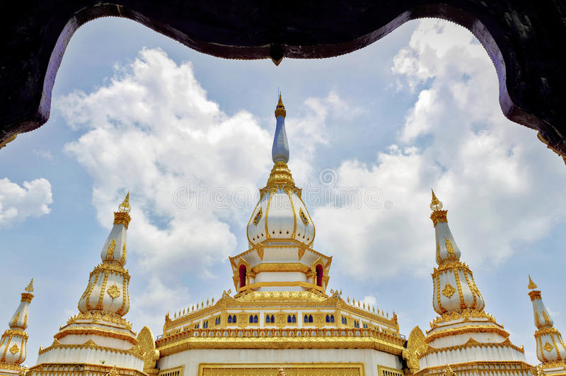 Phra Maha Chedi Chai Mongkol, Roi Et province, northeastern Thailand. Phra Maha Chedi Chai Mongkol, a highly-revered pagoda containing relics of Buddha, located royalty free stock photography