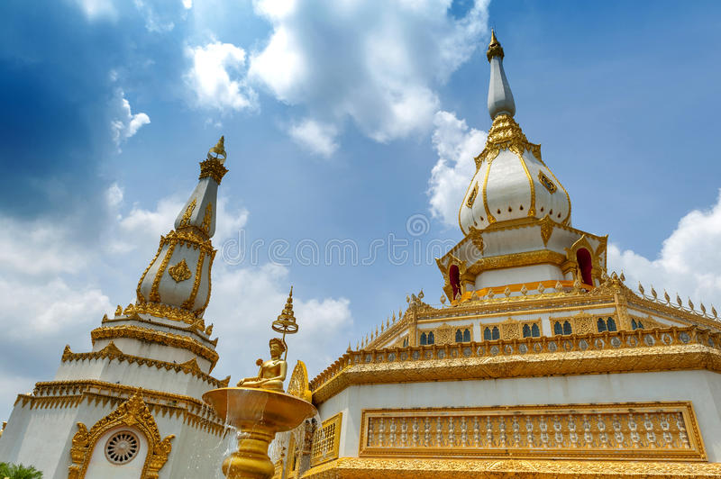 Phra Maha Chedi Chai Mongkol, Roi Et province, northeastern Thailand. Phra Maha Chedi Chai Mongkol, a highly-revered pagoda containing relics of Buddha, located stock images