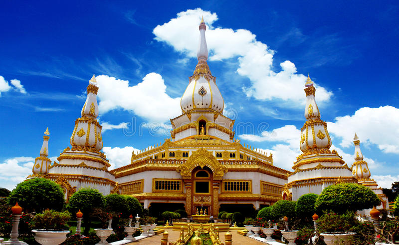 Phra Maha Chedi Chai Mongkol Temple fotografia stock