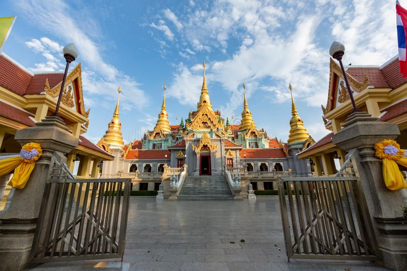 Phra Maha That Chedi Phakdee αναγγέλλει στοκ φωτογραφία με δικαίωμα ελεύθερης χρήσης