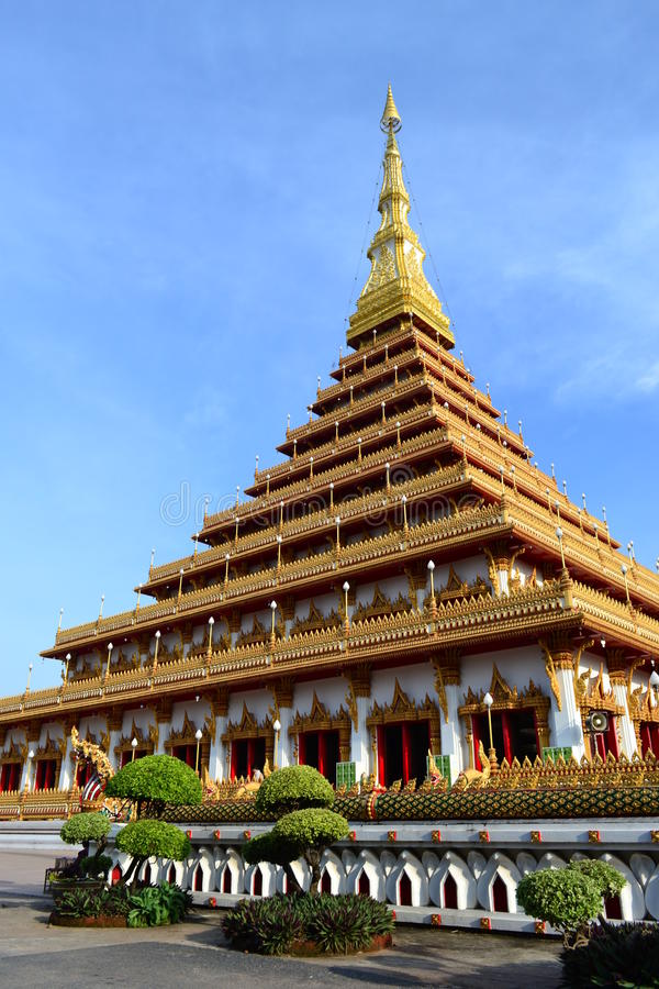 Phra Mahathat Kaen Nakhon стоковое изображение rf