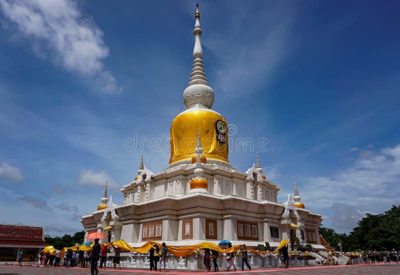 Phra that Nadun pagoda in Mahasarakham city stock image