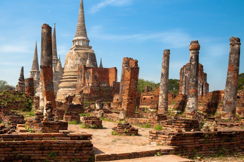 Phra Nakhon Si Ayutthaya. Ruines of ancient palace Phra Nakhon Si in Ayutthaya royalty free stock photos