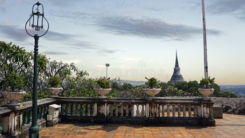 Phra Nakon Kiri Temple Complex em Tailândia imagens de stock