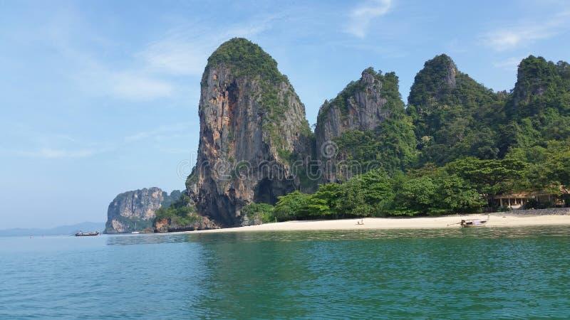 Phra Nang海滩, Krabi,泰国 库存照片