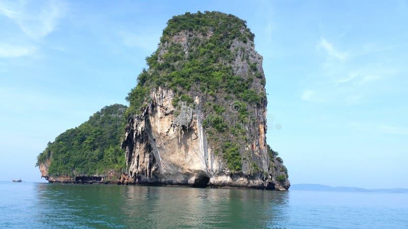 Phra Nang海滩, Krabi,泰国 图库摄影