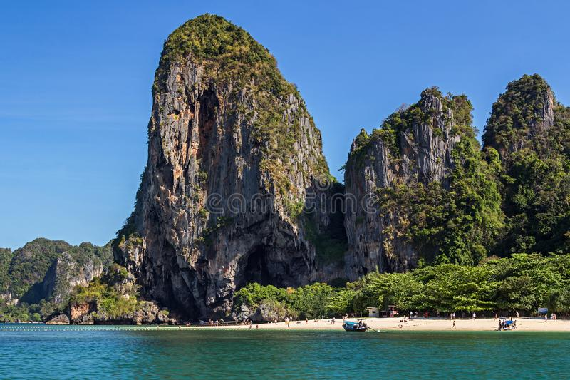Phra Nang Beach in Krabi. View on Phra Nang Beach in Krabi province of Thailad, Asia stock image