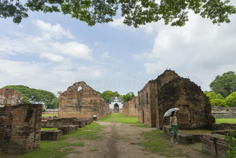Phra Narai Ratchaniwet or King Narai's Palace. Lopburi, Thailand. stock image