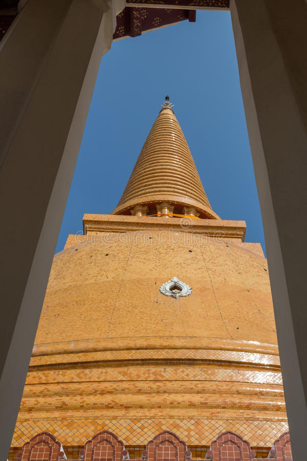 Phra Pathom塔 库存图片