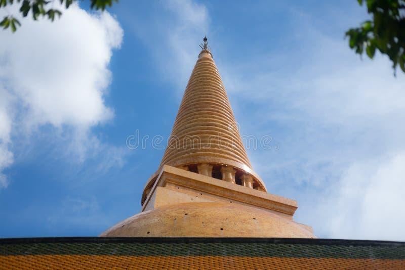 Phra Pathom Chedi is een stupa in de provincie van Nakhon Pathom, Thailand royalty-vrije stock afbeeldingen