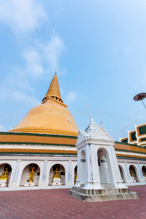 Phra Pathom Chedi (Grote pagode), de Provincie van Nakhon Pathom royalty-vrije stock afbeeldingen