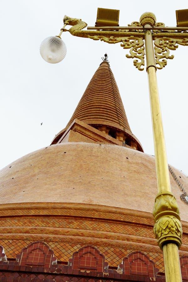 Phra Pathom Chedi stor pagod, Nakhon Pathom landskap, Thailand royaltyfri bild
