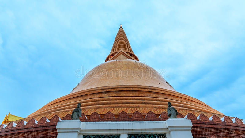 Phra Pathom Chedi the tallest and biggest stupa, pagoda in the world. It is located in the town of Nakhon Pathom, Thailand royalty free stock images