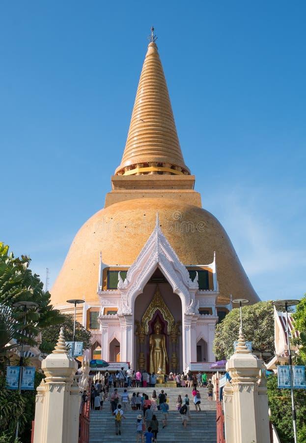 Phra Pathom Chedi, Thailand royaltyfria bilder