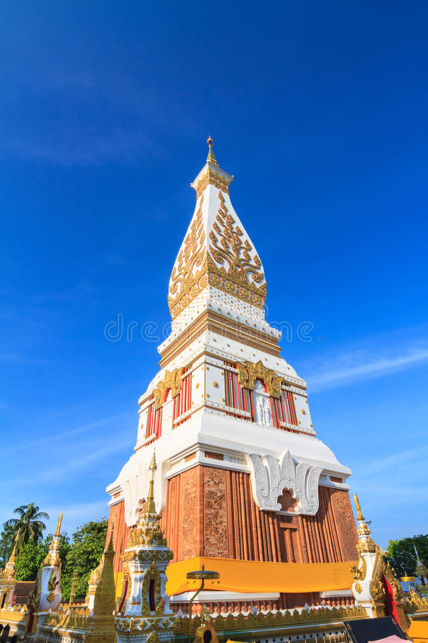 Phra That Phanom chedi in Wat Phra That Phanom, Nakhon Phanom pr. Ovince, Thailand stock photography