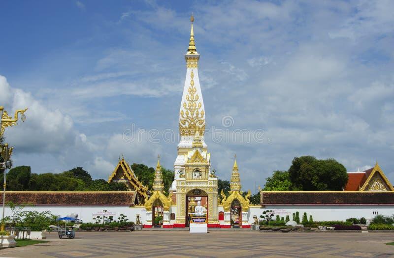 Phra that phanom. At nakhon phanom royalty free stock image