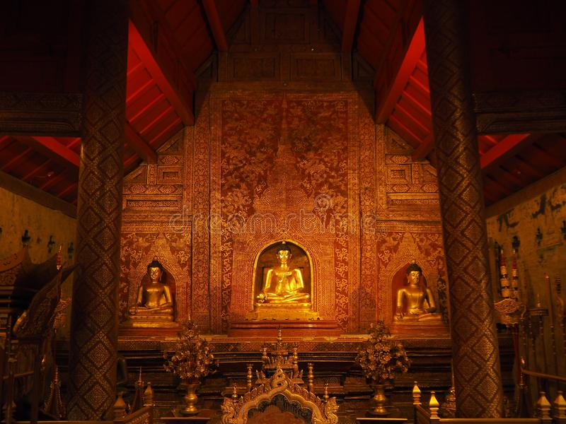 Phra phuthasihing Wat Pra Singh Chiang Mai Thaïlande photos libres de droits