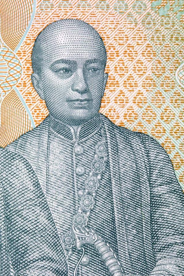 Phra Phutthaloetla Naphalai Rama II portret royalty-vrije stock afbeeldingen