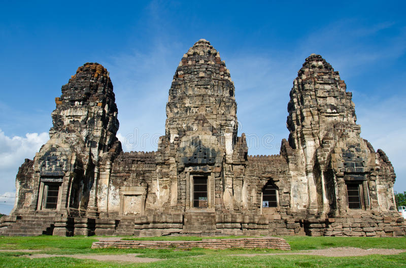 Phra Prang Sam Yod . Lopburi, Thailand. Religious buildings constructed by the ancient Khmer art stock photo