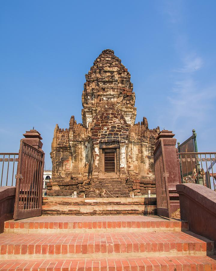 Phra Prang Sam Yod, Lopburi, Thailand stock fotografie