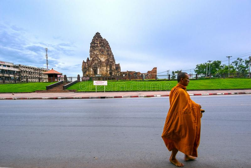 Phra Prang Sam Yot immagini stock libere da diritti
