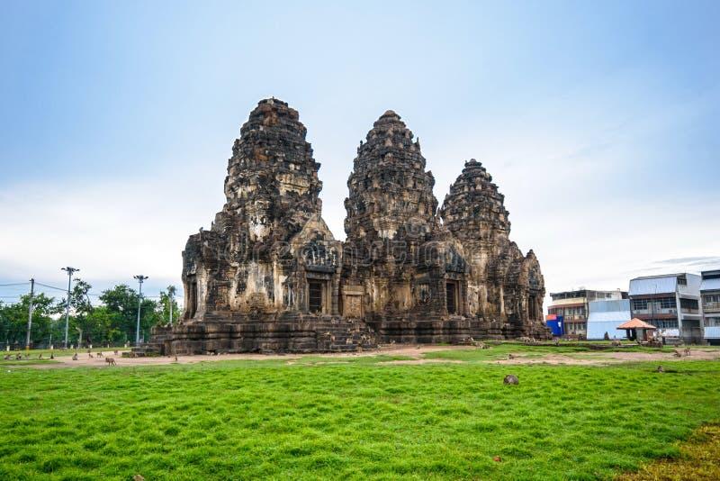 Phra Prang Sam Yot immagini stock